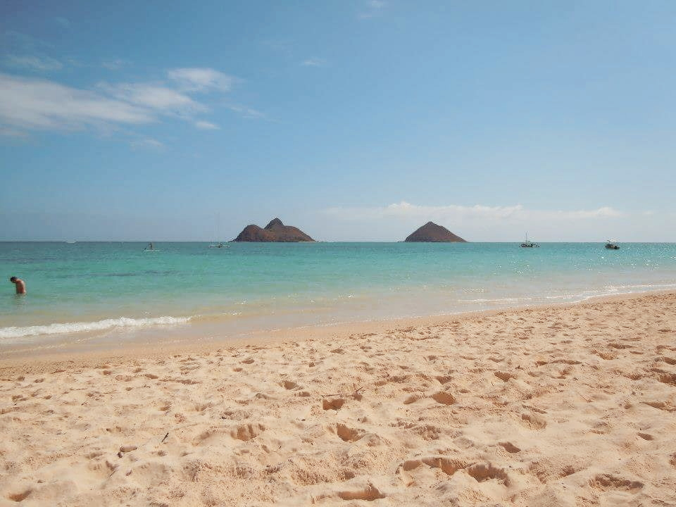My favorite beach in the island of Oahu...Lanikai. On my second trip there. Don't you want to be somewhere warm friend?...keep reading!
