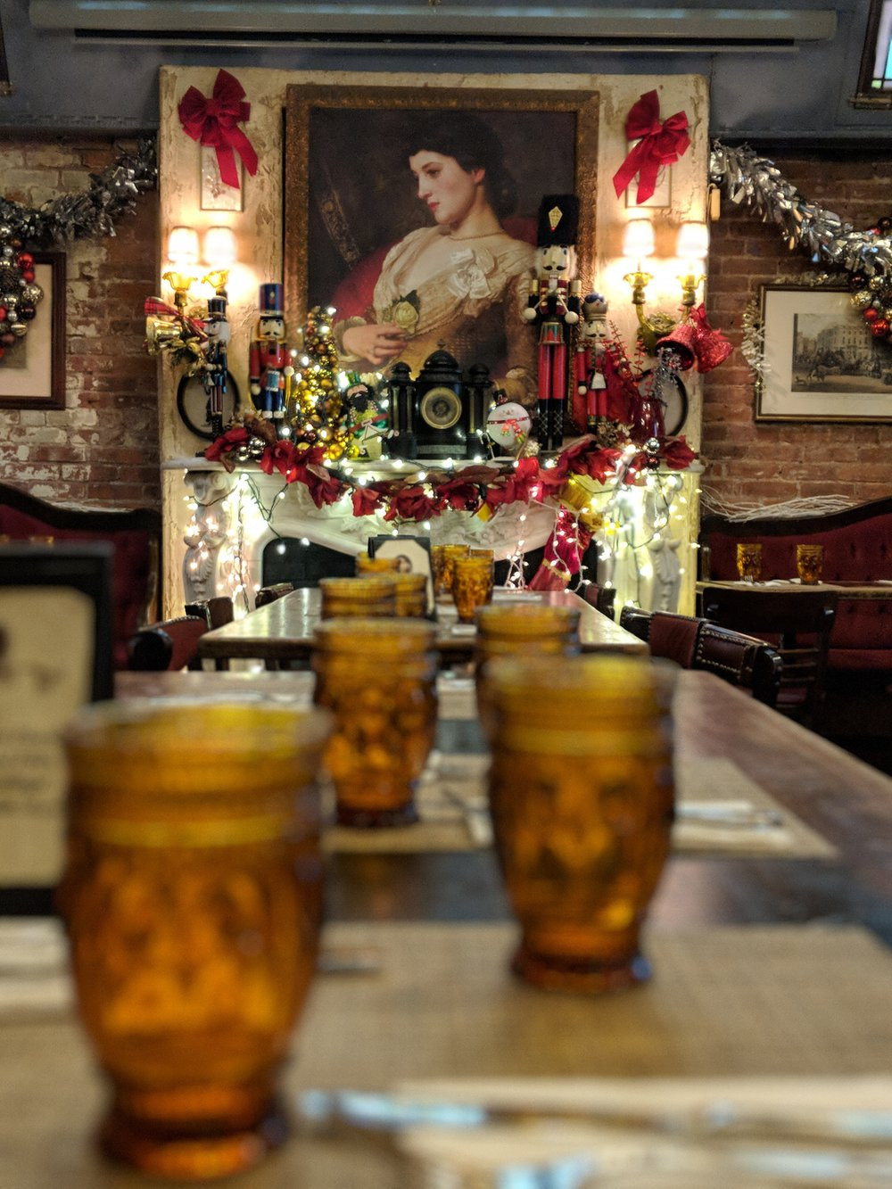 Also makes a great spot to end your day with a great dinner and beautiful holiday ambiance.
