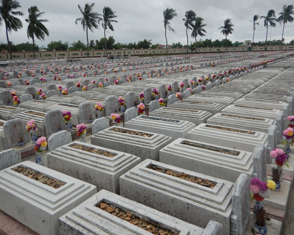 Vietnamese war graves, from the 'American War'.