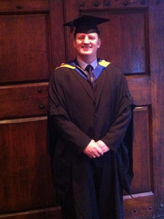 Graduation for my first degree in 'Paramedic Science'.