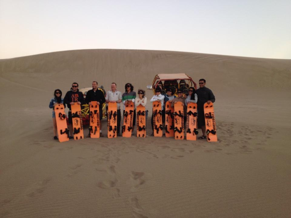 The International 'Sand Dune Surfing' finalists....