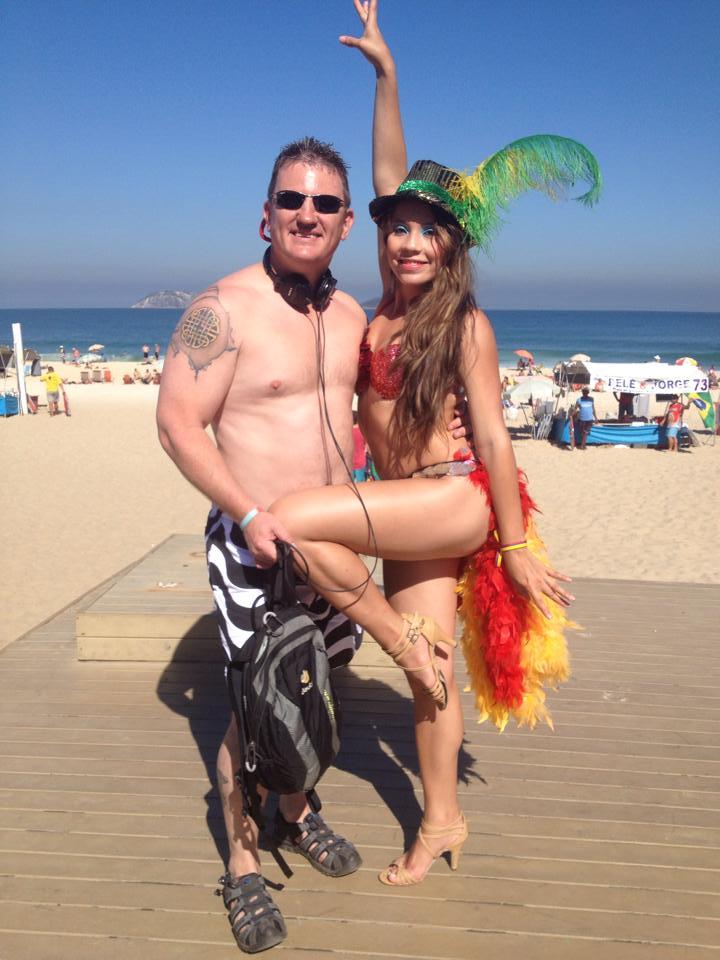 The true spirit of Ipanema beach...stunning ladies and fat milk bottled blokes