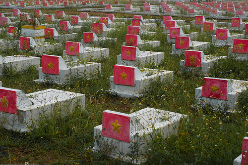 Vietnamese war graves, from the 'American War'.