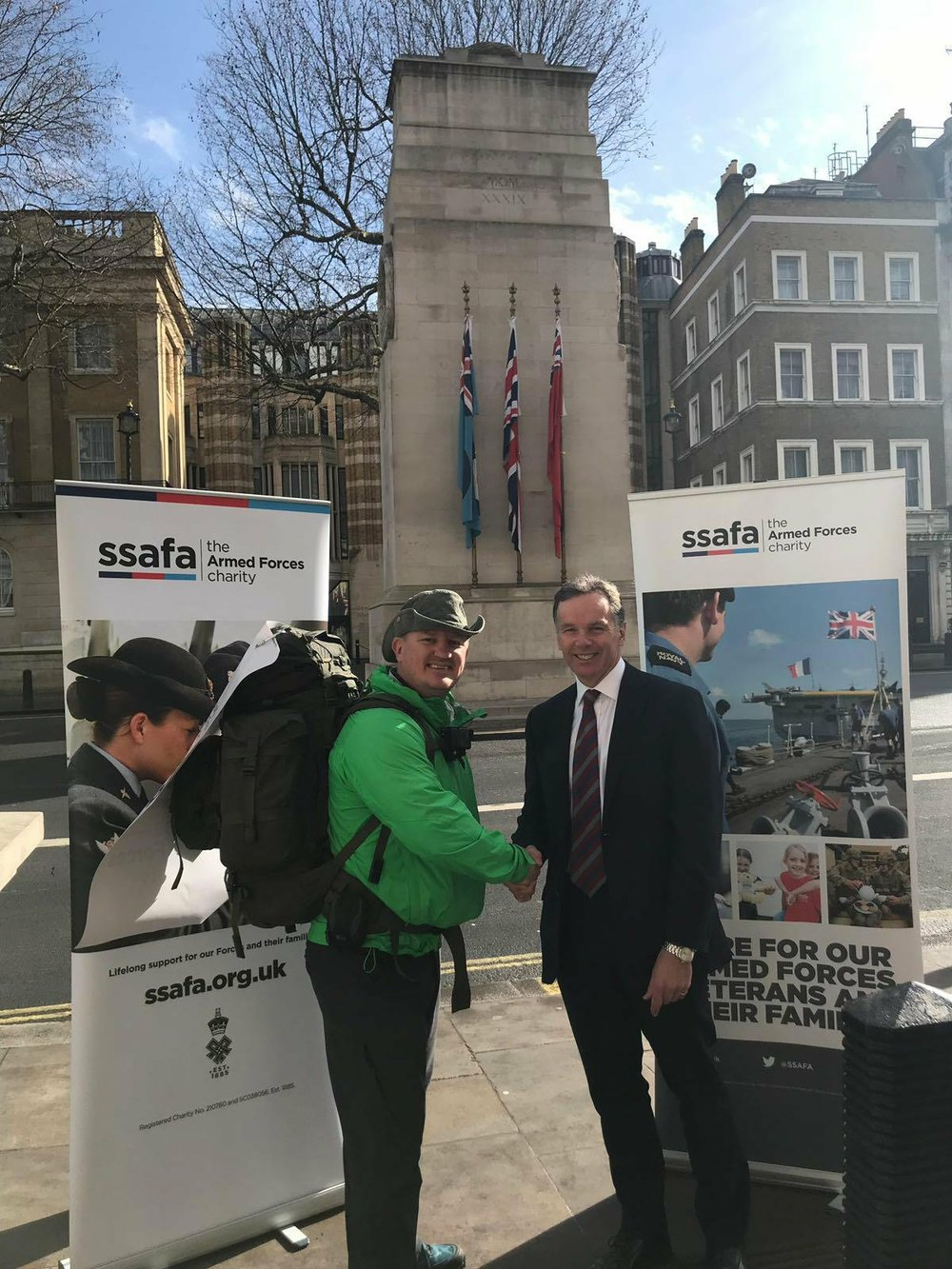 With SSAFA CEO, Andrew Gregory.