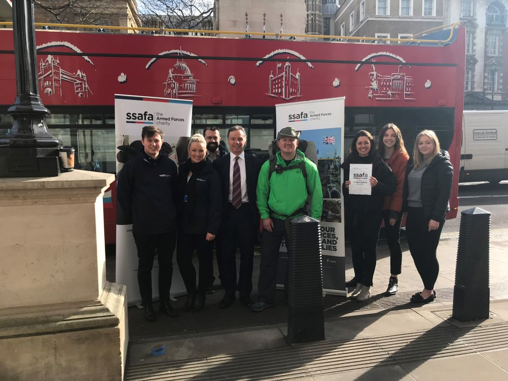 with the SSAFA team and London bus!!