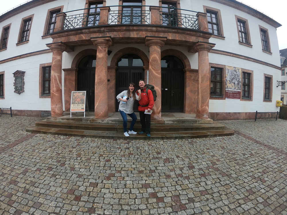 With Sandy in Rochlitz.