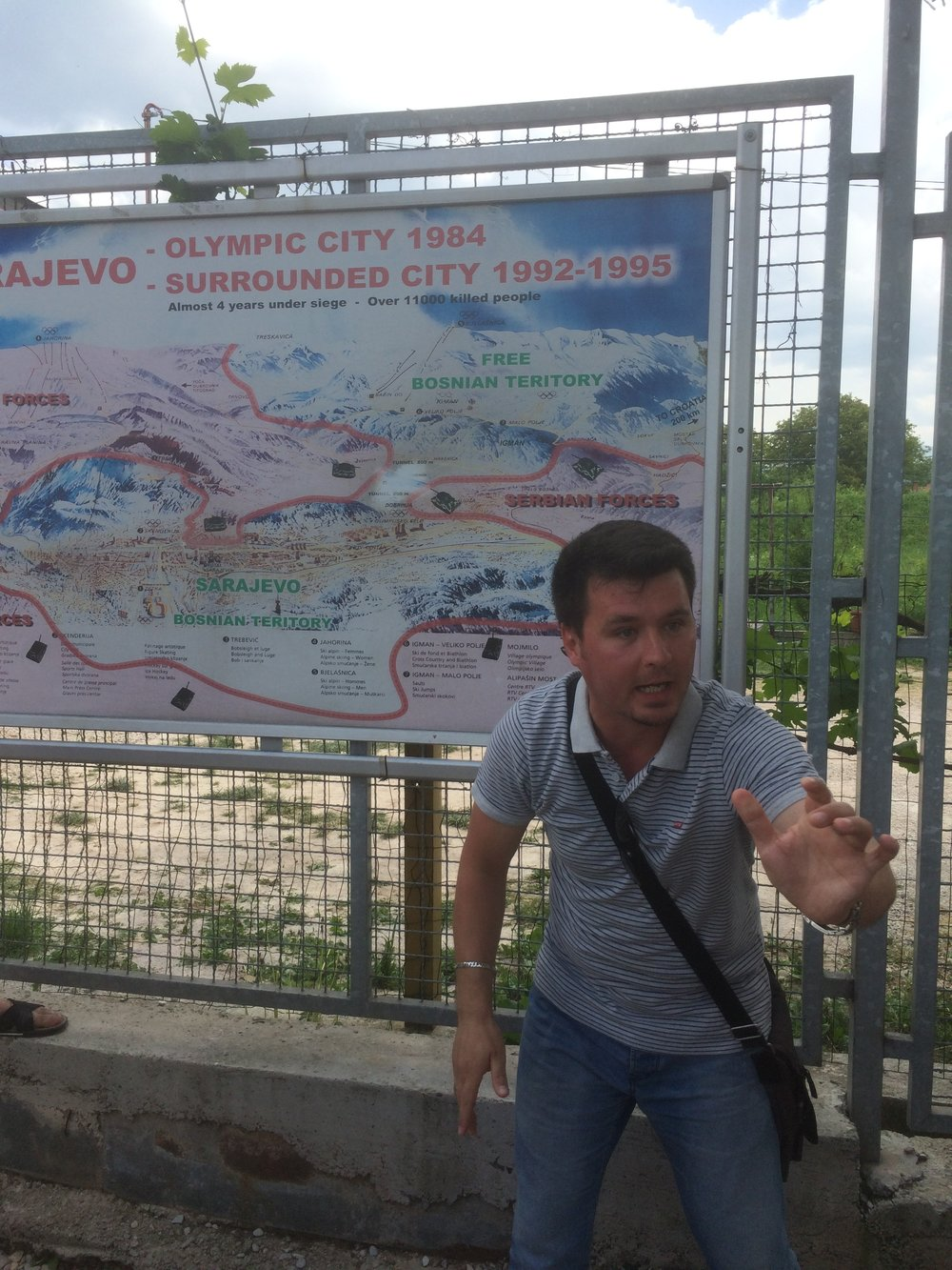 The fantastic Enis...Brilliant Guide...BH Spirit tours ..Sarajevo