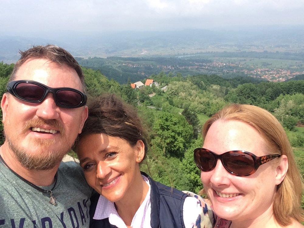 With 'Mickey' in the Hills above Banja Koviljaca