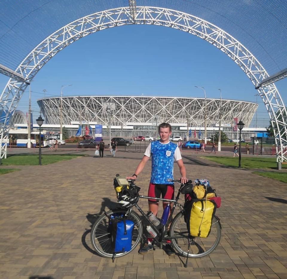Henry Duckworth...Cycled from UK to Volgograd