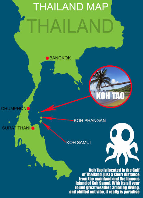 Koh Tao Location