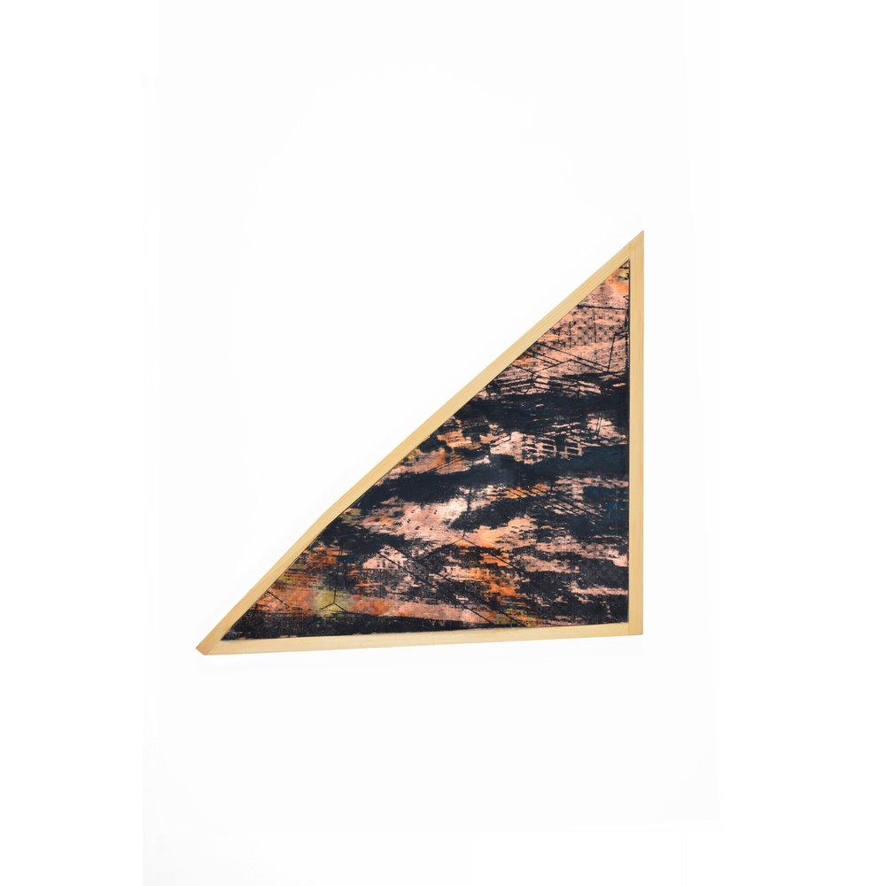 Aérea II , series, oil ink, copper, wood, 1x20cm,2015