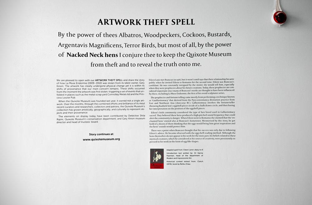 Artwork Theft Spel l, cut vinyl component, 127 x 120 cm, 2018.