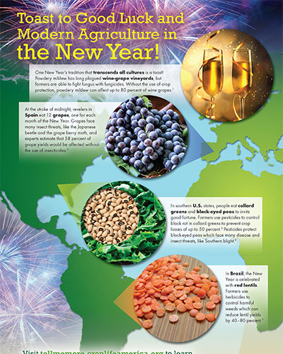 Toast to Good Luck and Modern Agriculture in the New Year Image