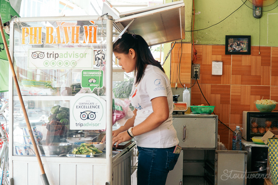 The best Banh Mi in Hoi An, Vietnam comes from Phi Banh Mi just outside of old town.