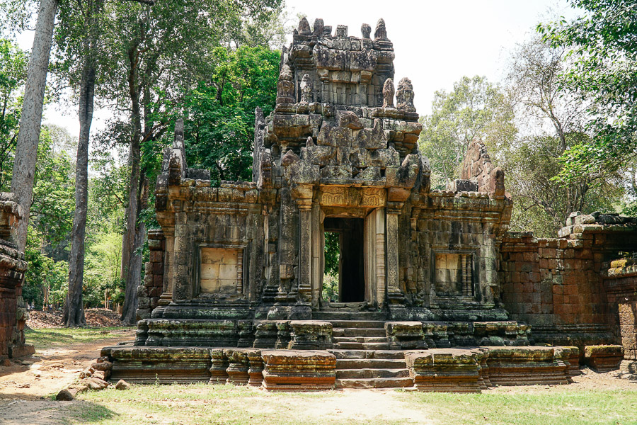 temple in angkor thom in siem reap cambodia