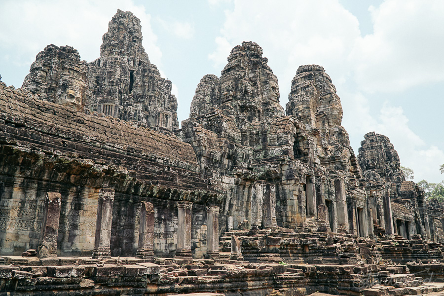 Bayon temple in Angkor Thom outside of Siem Reap, Cambodia.