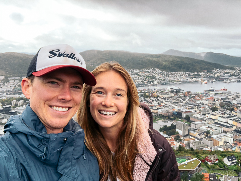 A selfie from the top of Fløyen in Bergen.