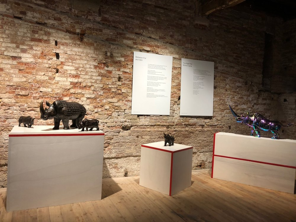 The sculptures of Li-Jen-Shih with poems by Ronna Bloom, Palazzo Contarini Polignac, Venice