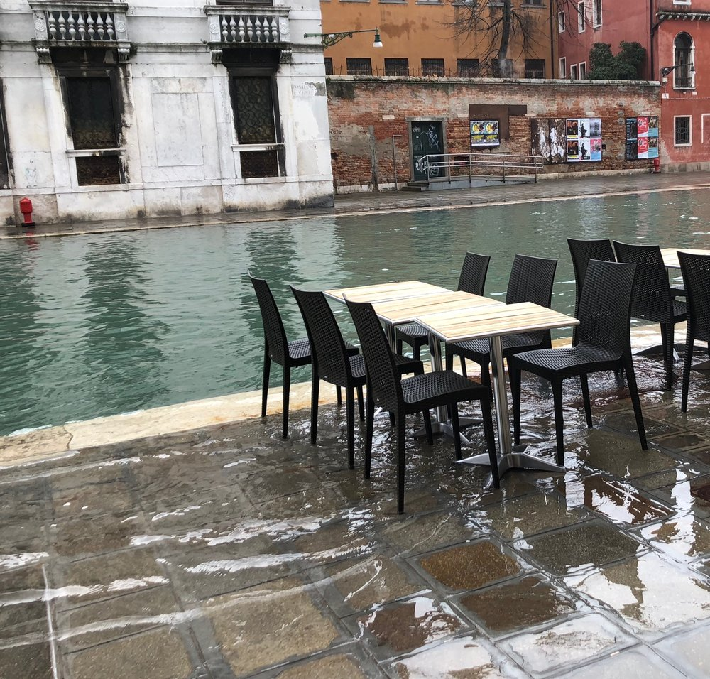Acqua Alta (High tide) in Cannaregio.