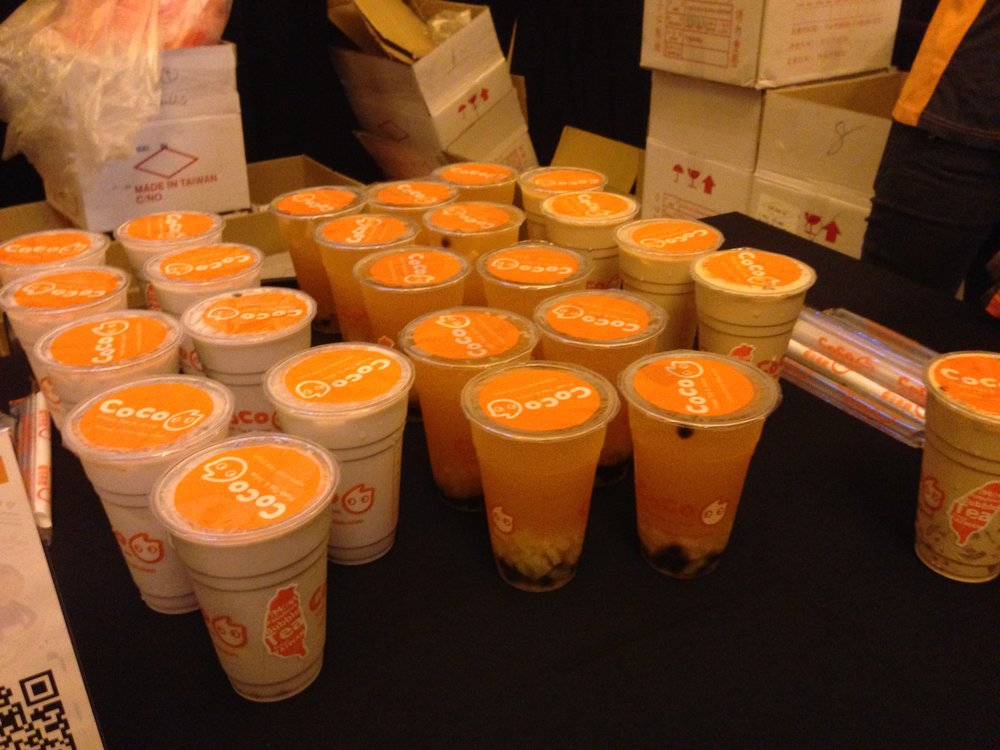 Coco bubble tea available in three flavors.