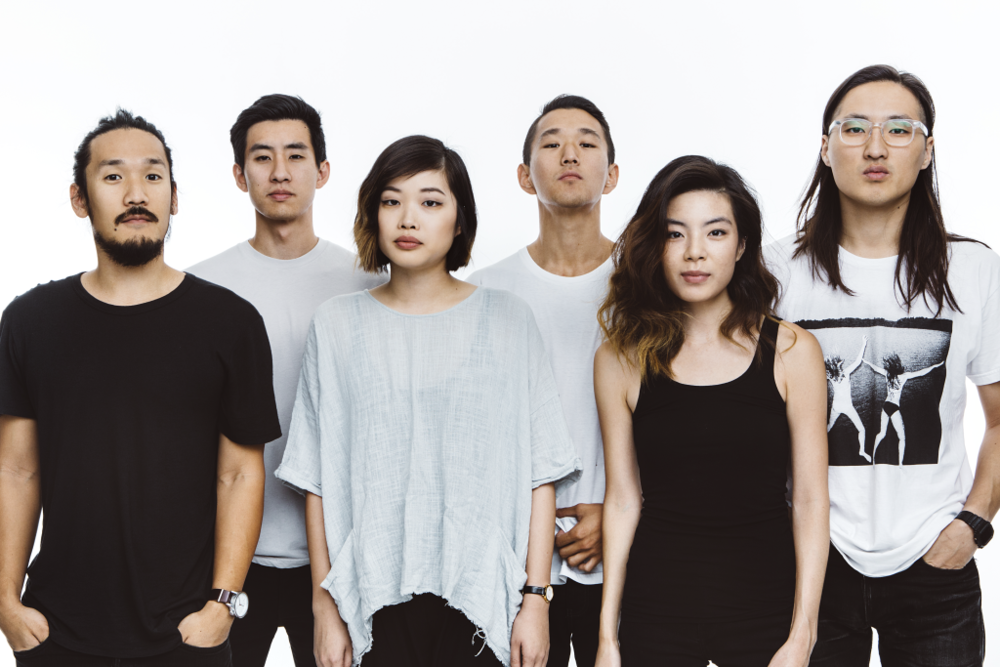 Left to right: Alex Hwang (lead vocalist and acoustic guitarist), Joe Chun (bassist), Sally Kang (keyboardist), Daniel Chae (violinist), Jennifer Rim (violinist), and John Chong (drummer).  Photo Credit: Run River North