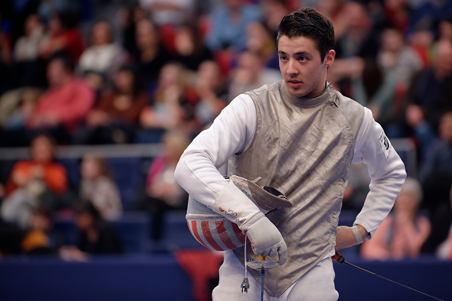 Alexander Massialas, 21 - Olympian, 2013 NCAA champion, and 2014 team silver medalist—that's a whole lot of titles for Alexander Massialas, a fencer following in his father's footsteps. (On top of being Alexander's coach and father, Greg Massialas is a two-time Olympian who competed on behalf of the U.S. in the 1984 and 1988 Summer Olympics, and current national team coach.) Half-Greek and half-Taiwanese, Massiaslas has taken his skills to Stanford University, where he attends on a fencing scholarship. The sport is in his blood, but he also enjoyed soccer, basketball, and swimming growing up. -S.H.Image via Wikipedia