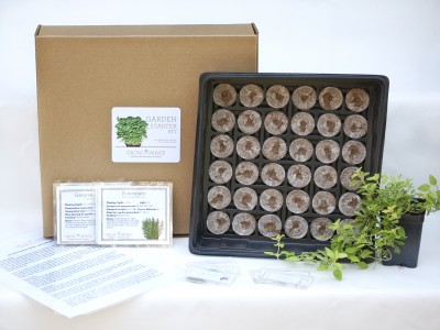 Grow and Make Culinary Herb Garden Starter Kit ($29.95) - Give the gift that keeps on growing with this handy herb garden kit. It's suitable for cramped dorm rooms, tiny apartments, and urban dwellers lacking outdoor space. The owner will be able to add that unbeatable kick of fresh basil leaves to a warm plate of spaghetti bolognese.