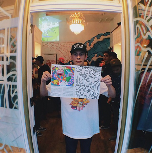 Aaronkkai  - Aaron Kai is a San Francisco native and creative artist who started out by simply drawing his favorite cartoons like Dragon Ball Z. He quickly transformed his propensity for art into a career and now has four art shows under his belt. Kai is now delving into fashion and exclusive collaborations with brands like Lemon Hi Clothing and Hurley.