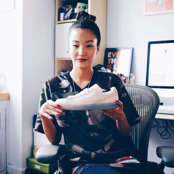 Esymai -  – Sophia Chang is an illustrator and designer who has made a niche for herself in the world of fashion. She's not only worked with popular brands, such as NIKE, Puma, and Urban Outfitters, but also has a killer sense of style.