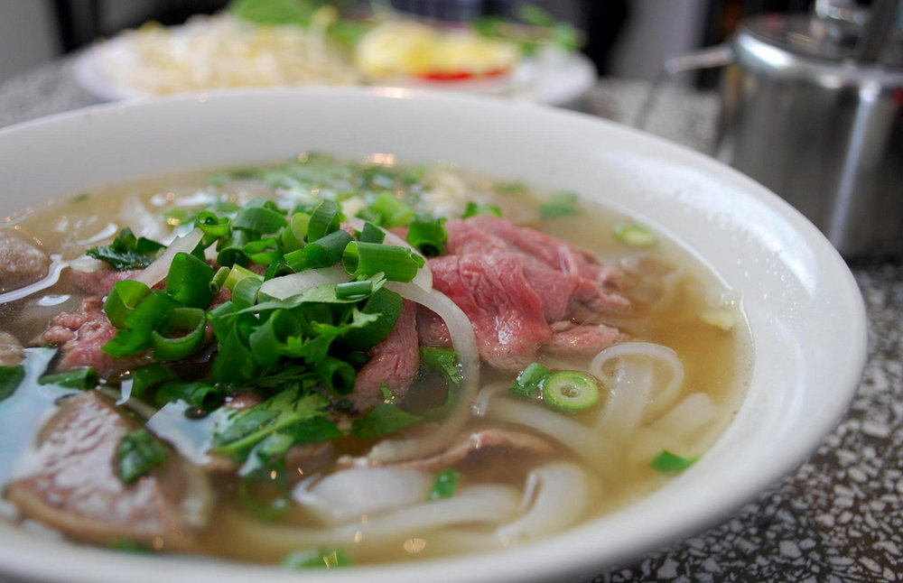 Pho: Vietnam - With more than 2 million Vietnamese Americans living in the United States, it's no wonder that Vietnamese restaurants have grown steadily in the last 30 years. According to The Huffington Post,pho (pronounced fuh) is the most popular Vietnamese dish in the United States. This simple rice noodle soup with beef broth can be customized with different cuts of beef or by piling on jalapeno peppers. Pho is so popular that Campbell's StockPotpartnered with Mai Pham, a Vietnamese culinary expert, to develop a canned pho broth.Photo:avlxyz via Flickr