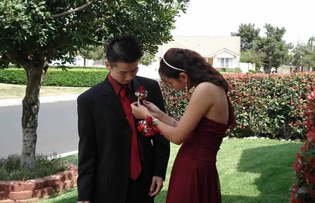 Stephanie Lee, editorial staff and blogger - It's a lot more difficult to put on a boutonnière than you think! I definitely pricked myself more than I thought I would, but I imagine this skill will come in handy one day—at my wedding perhaps?