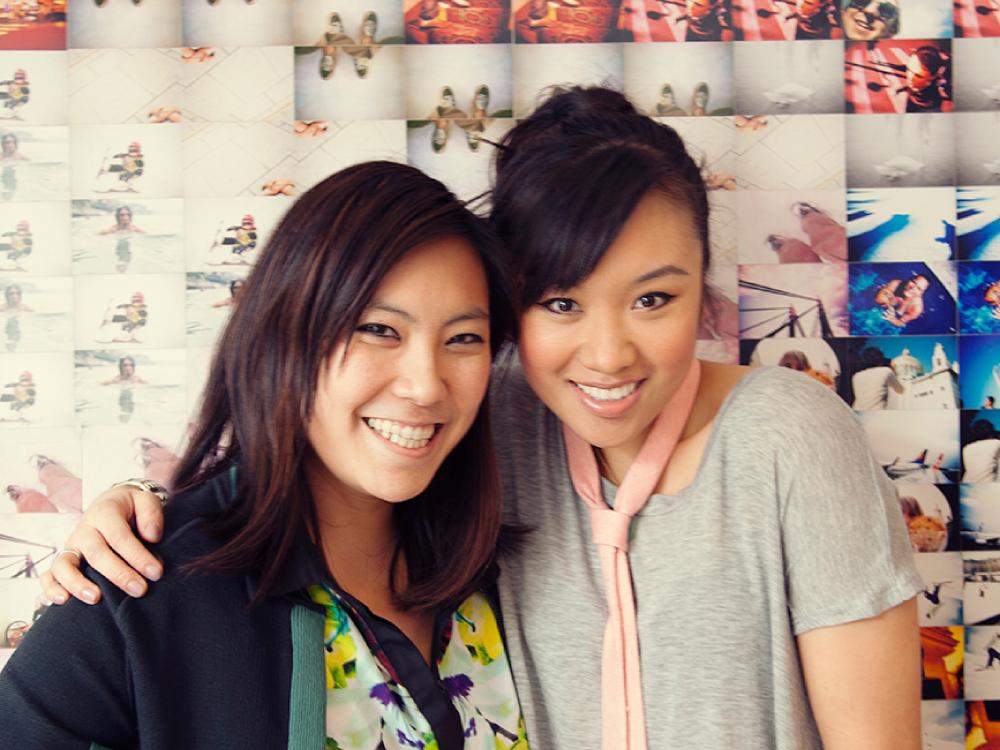 EIC Steph Wu (L) and Ellen Wong (R)