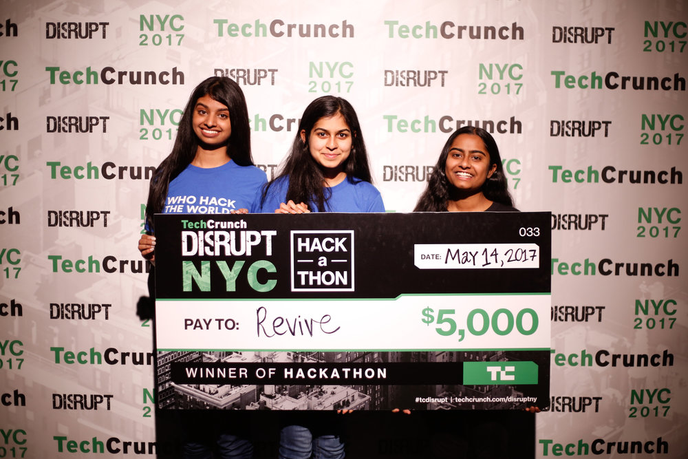 Amulya Balakrishnan, 18, Akshaya Dinesh, 17, Sowmya Patapati, 17 - After meeting at a hackathon, these three high schoolers from Bergen County, New Jersey, became fast friends due to their shared dream of improving the world through technology. They soon joined forces to create Revive, a virtual reality application meant to bring a simple and quantitative test-based approach to diagnosing attention-deficit hyperactivity disorder. They hope that using Revive will not only bring patients to treatment faster, but also decrease the cost of the diagnostic process. If Revive is any indication, Patapati, Balakrishnan and Dinesh will create even better tools in the future, as part of the next wave of innovators using technology to help others. — C.Z.Image Courtesy of Akshaya Dinesh