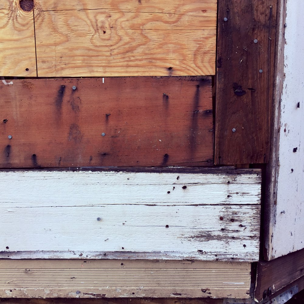 "Past builders were ""creative"" when it came to the exterior sheathing."