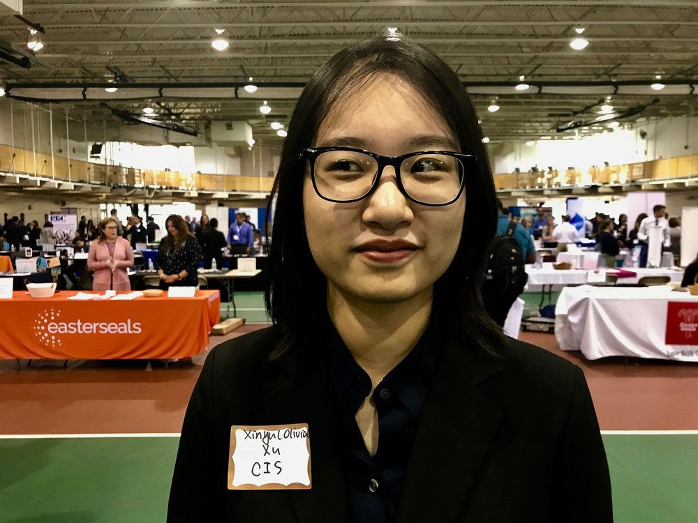 Xinyu Olivia XU,China,21,Computer information system  - Before Quinnipiac I didn't really have an idea of diversity because I was born and grew up in a small city for 18 years. People, especially my friends, have similar backgrounds, similar family (structure). Their family either work for a company or government, and were the only child in family. We don't really have diversity things. All my friends are pretty similar.I had a lot of culture shock during the first two years. I think for now, diversity is you should accept yourself, then you accept the others. If you will not admit that you're different from them, you will not accept what the difference is. You will not recognize what that is.