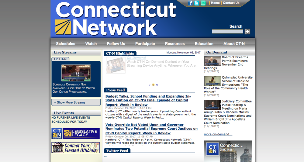 Screenshot from the CT-N website homepage.