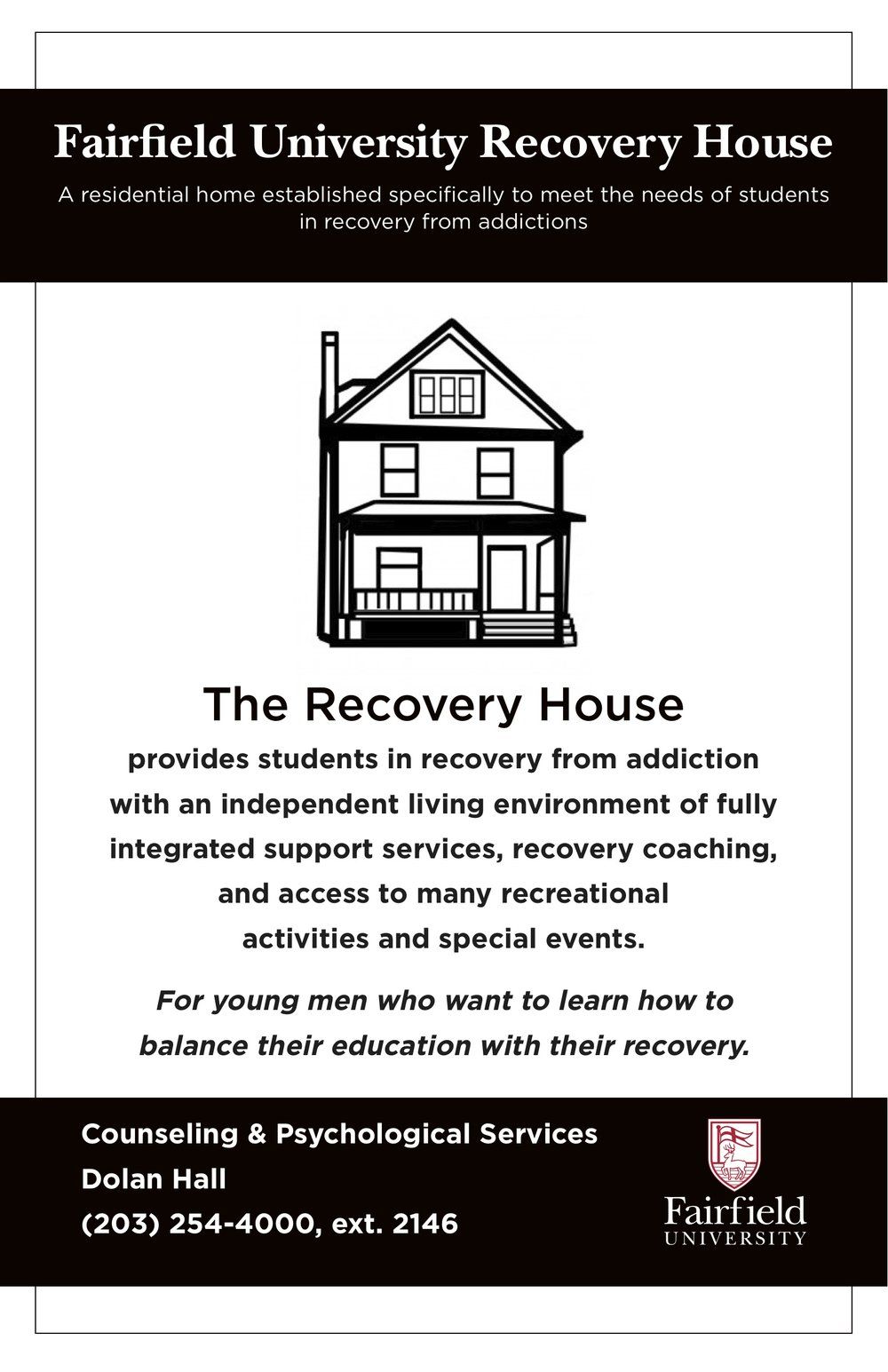 Fairfield University Recovery House Poster.jpg