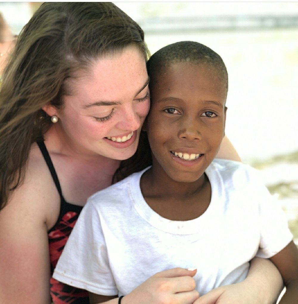 There were also some students who used their time off to attend a service trip to Haiti. Cassandra Krebbs had the opportunity to work with some of the communities in the country.