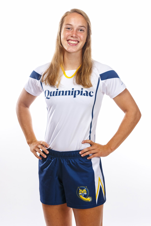 Allison Koenig - Freshman. Quinnipiac Women's Rugby.Photo Courtesy of Quinnipiac Athletics