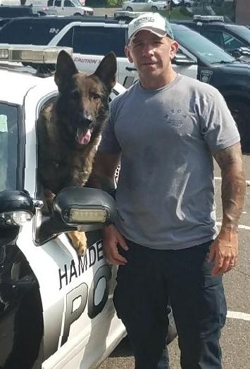 Sergeant Jason Venditto with his partner Viking.