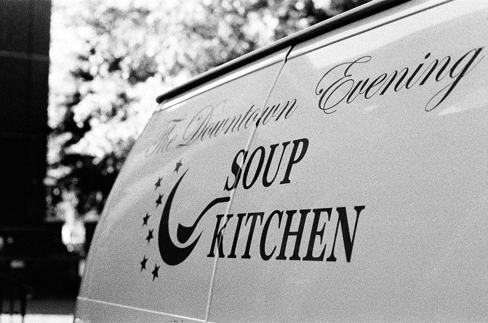 Above: a New Haven Soup Kitchen van.