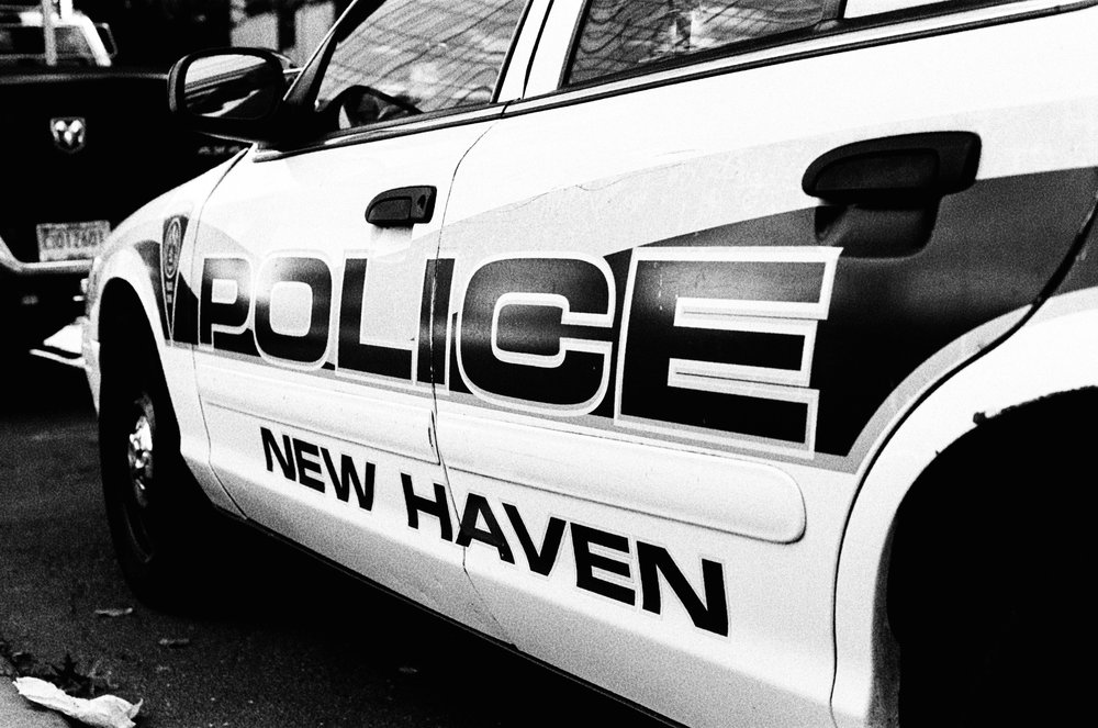 Above: New Haven police car.