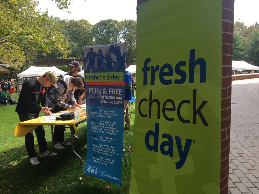 Fresh Check Day 2018 on Quinnipiac's Bobcat Lawn