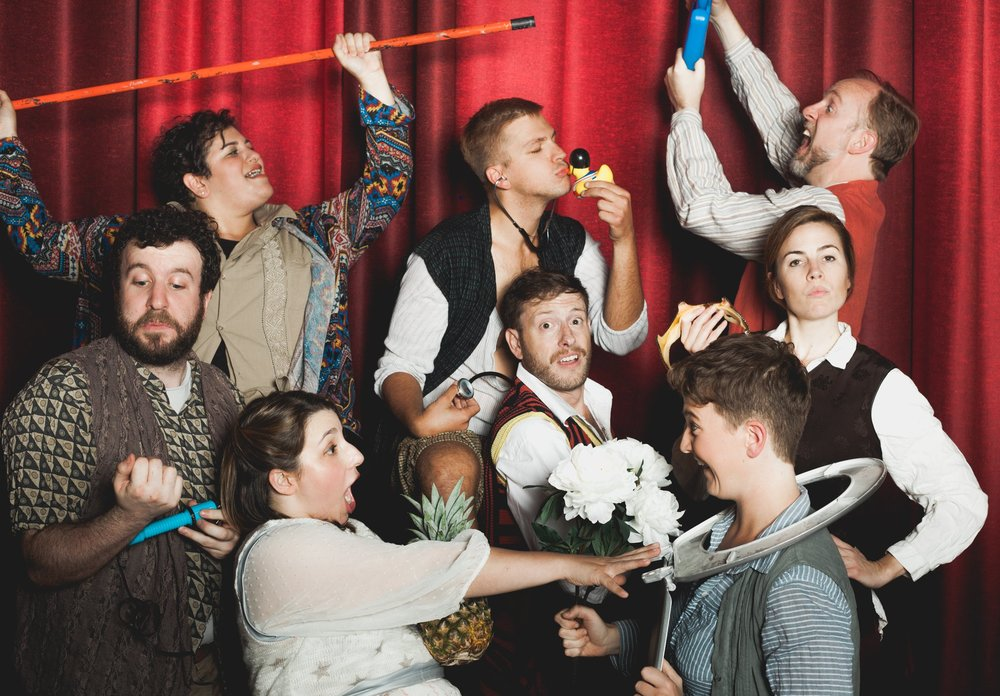 Pictured: The cast of Peter and the Starcatcher.