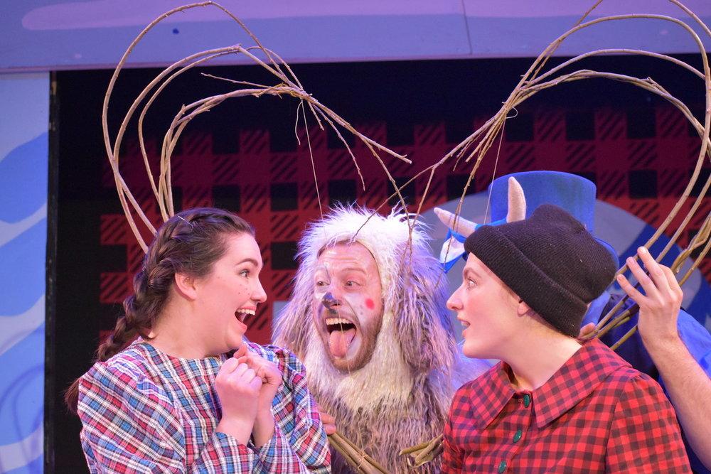 Photo credit: Alex Sandberg. Pictured: Laura Detwiler, Joey c. Pelletier and Kiki Samko