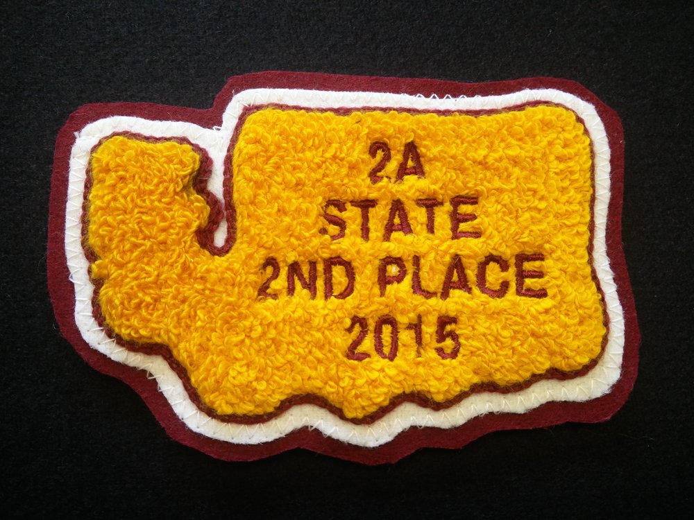 State Patch - Shape of WA State, 4 lines of text