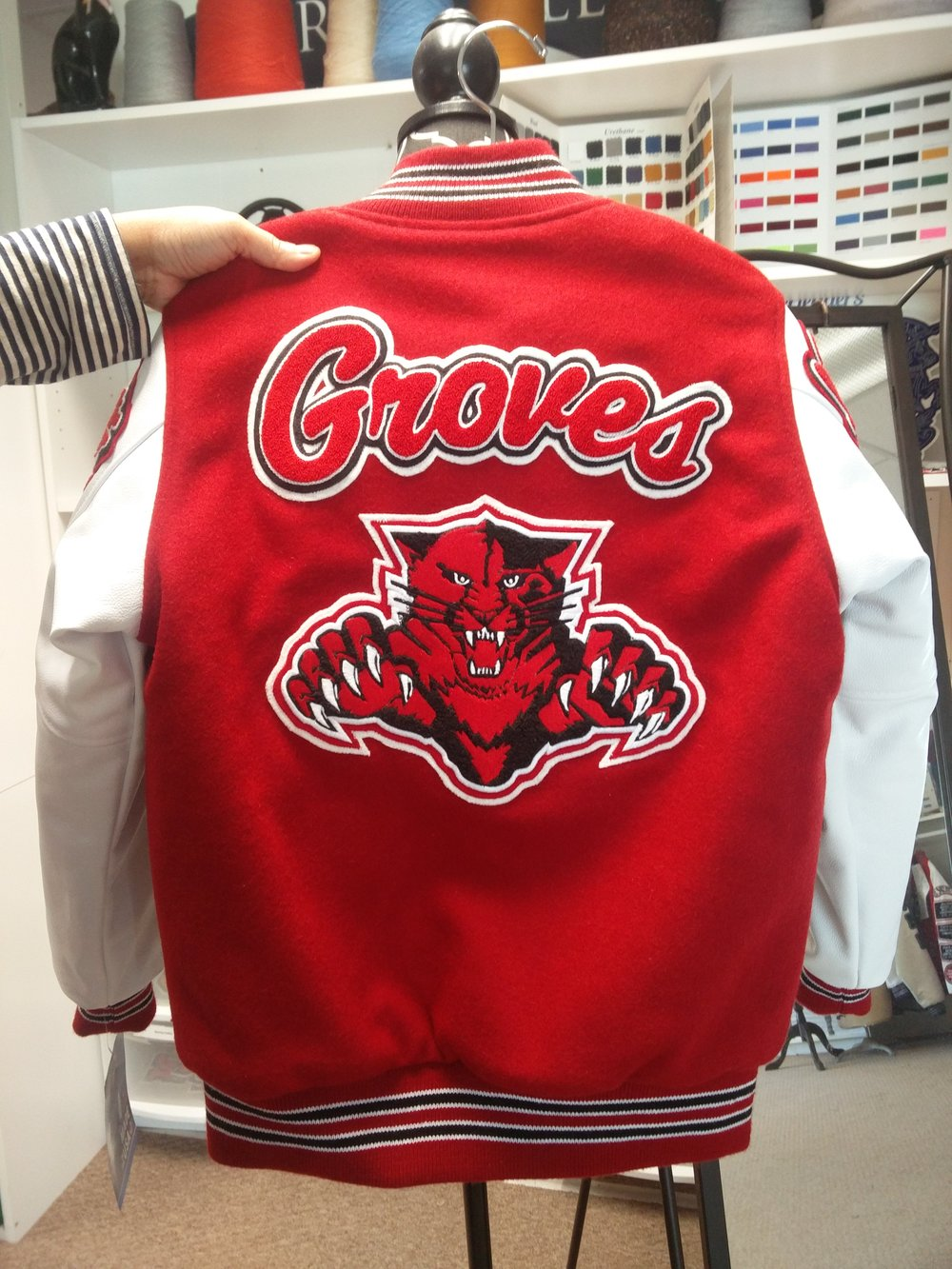 Back Patch - These patches are usually the largest on a letterman's jacket.Some students prefer to get large mascots, while others create their own unique patch that shows the various programs they have lettered in!