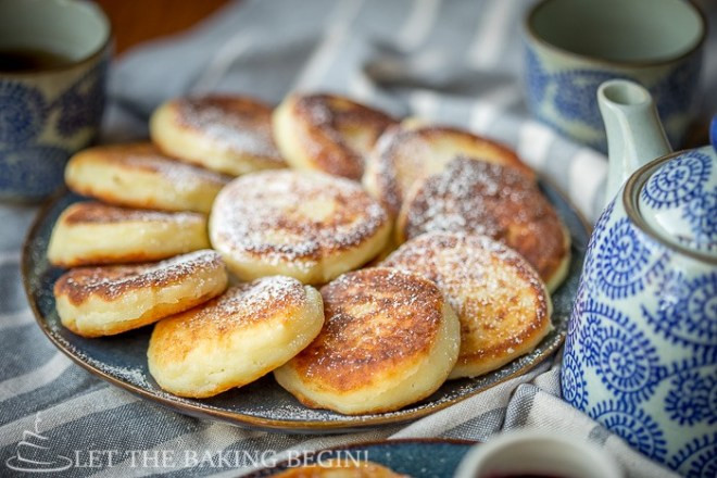 The syrniki were so delicious that we ate them before I could get a picture of them, so here's a photo from  Let The Baking Begin 's beautiful recipe