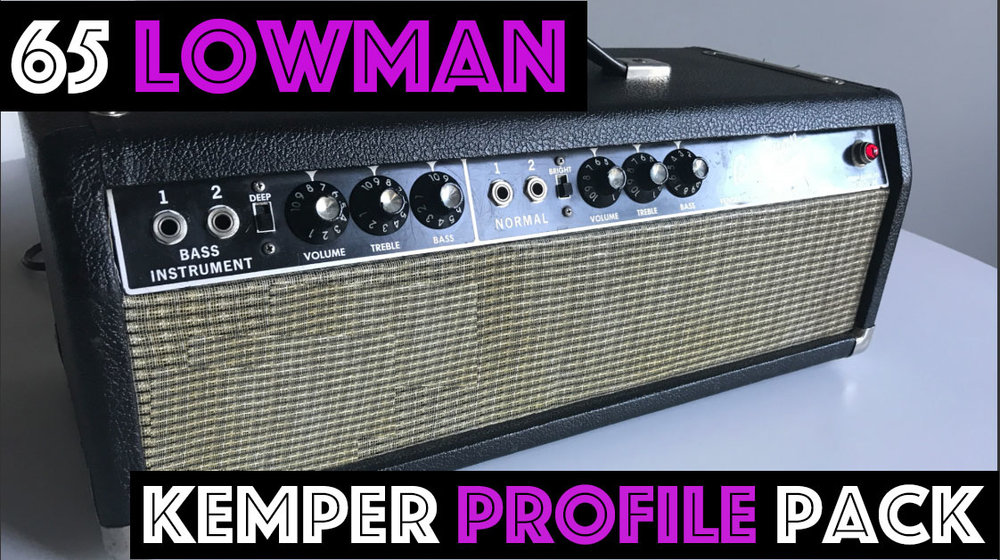 65 Lowman - The 65 Lowman pack seeks to capture the sound of the iconic amplifier that started it all. We profiled an all original 1965 F****** B****** with NOS RCA tubes. We've given you 36 profiles from clean to edge of break up to full on rock! Pushed with some of the the guitar world's iconic pedals…