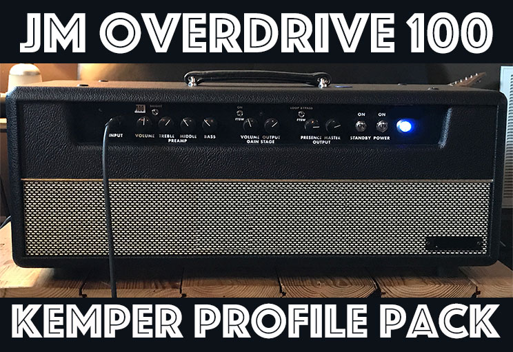 The JM Overdrive 100 Kemper Profile pack seeks to recreate the sound of John's signature amp. It is a wonderfully punchy and percussive sound which at times hints towards a D type sound but offers a flavor of drive and compression very much unique to itself. Players will enjoy several flavors of clean that seem to react with a feel and compression of a much more driven amp along, along with the tightest and clearest bottom end we have ever encountered in an amplifier.